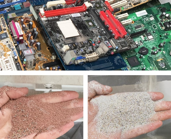 E-Waste Recycling Plant Raw Materials