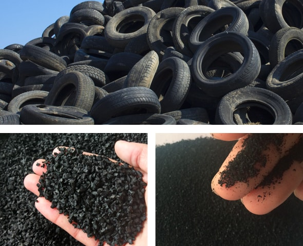 Tire Recycling Plant Raw Materials