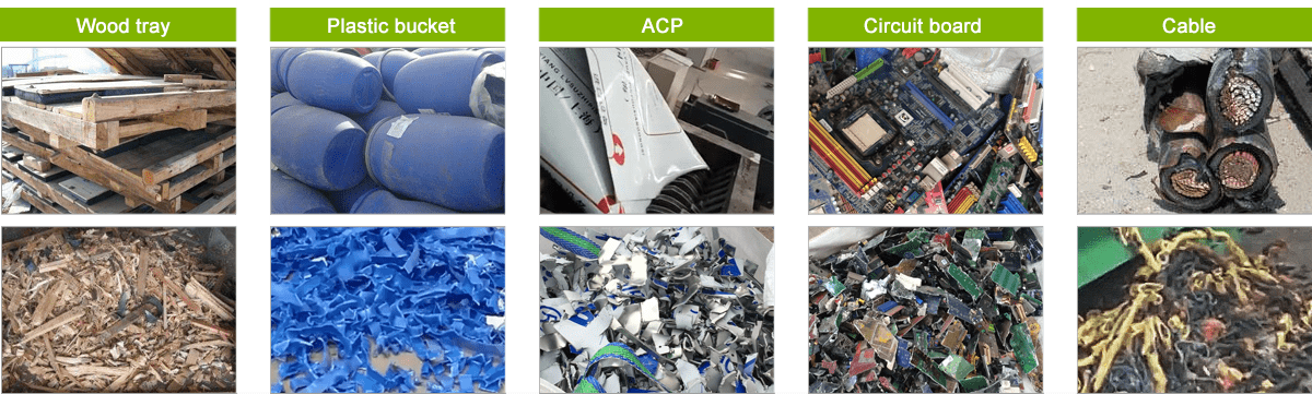Application of Double Shaft Shredder