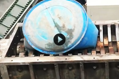 Waste Plastic Barrels Double Shaft Shredder