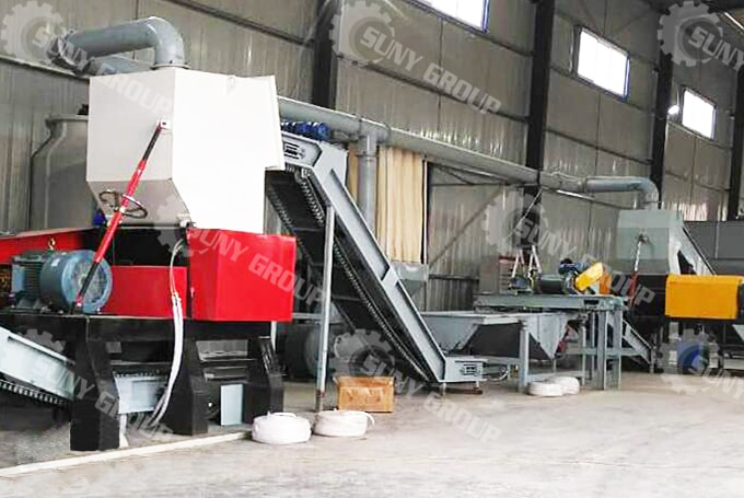 1000 Kg/H Fully Automatic Tire Recycling Plant In Qatar
