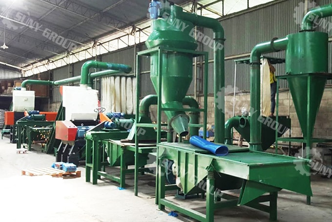 500 Kg/H Fully Automatic Tire Recycling Plant In Indonesia