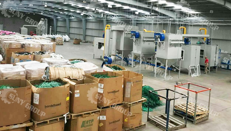 1000 Kg/H Circuit Board Recycling Line In Mexico