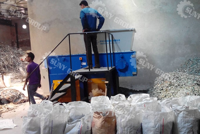 300Kg/H Aluminum Plastic Recycling Line In India