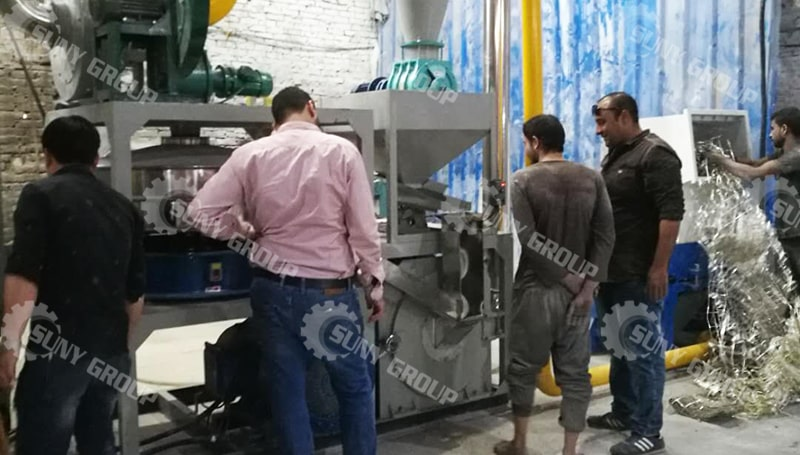 300Kg/H Aluminum Plastic Recycling Machine In Egypt