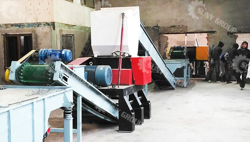500 Kg/H Semi Automatic Tire Recycling Line In Tajikistan