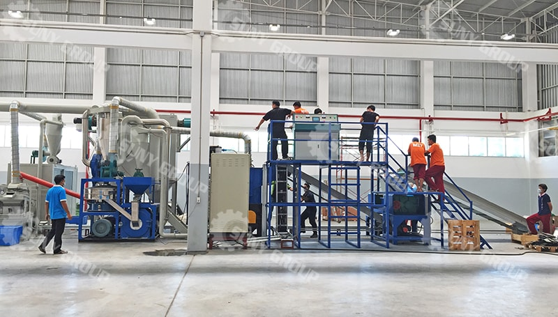 Circuit Board Recycling Machine is Being Installed In Thailand