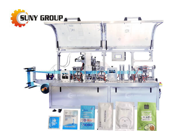 Four Side Seal Single Wet Wipes Making Machine